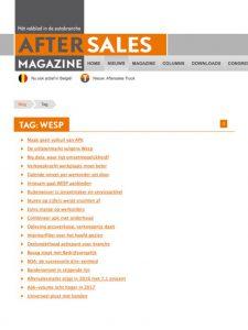 After Sales Magazine - alle Wesp artikelen